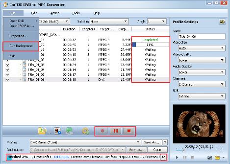 ImTOO DVD to MP4 Converter Guide - Extract file