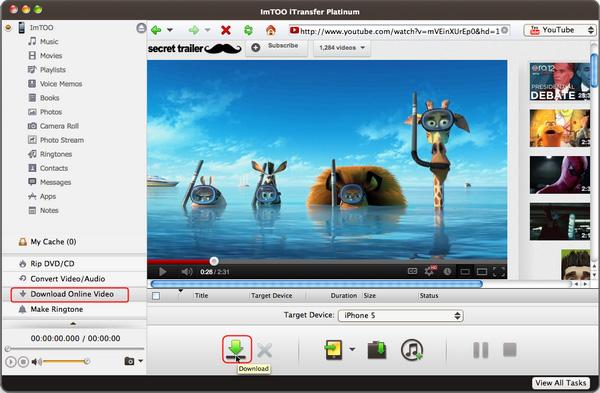 ImTOO iTransfer Platinum for Mac