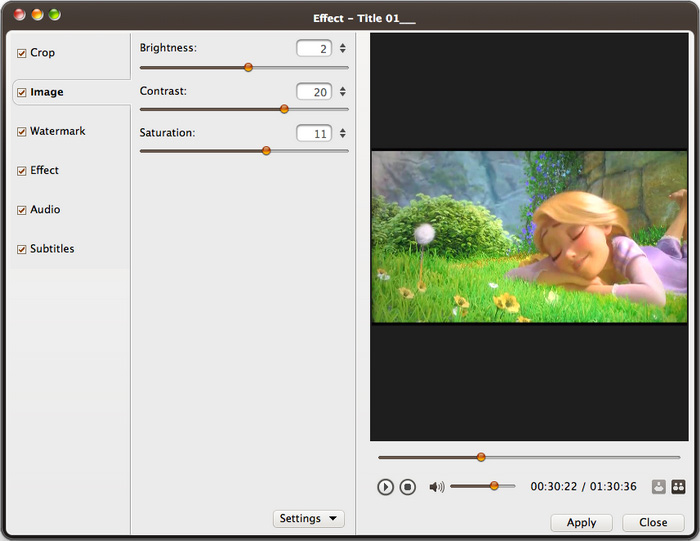 ImTOO DVD to Video Ultimate for Mac